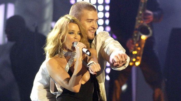 Kylie Minogue and Justin Timberlake in 2003. Photo: Richard Young / Shutterstock