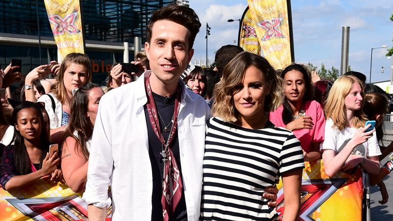 Nick Grimshaw paid an emotional tribute to his friend Caroline Flack