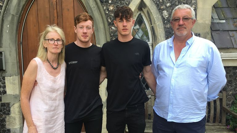 Dr Graham Bloor (R) pictured with his family