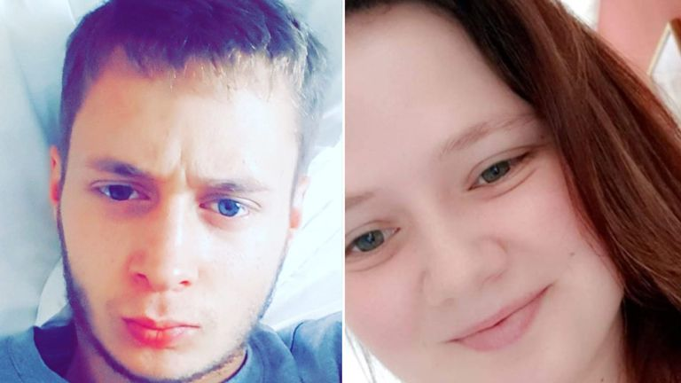 Haydon Croucher, left, died nine months after his sister Leah, right, was last seen