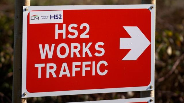 HS2 construction work