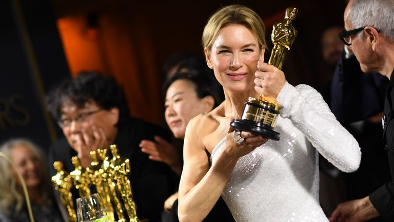 Best actress winner Renee Zellweger at the Oscars