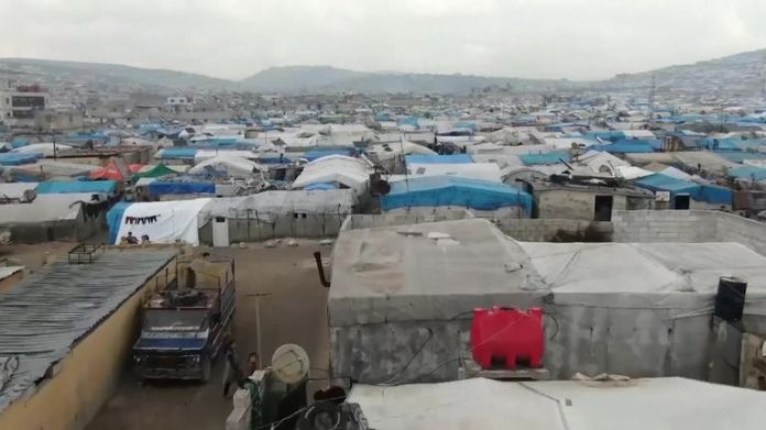 UN says 948,000 people displaced between December and February by Syrian military campaign against rebels in northwest Idlib province