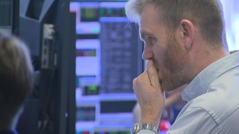The FTSE 100 fell more than 500 points at the open in London to below 6,000 points