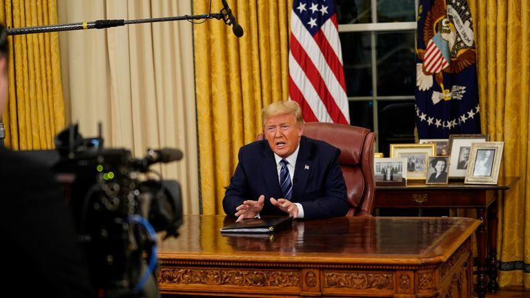 Coronavirus: Donald Trump defends his European travel ban amid ...