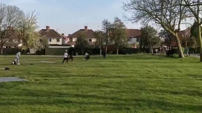 Police disperse cricket match in London Park