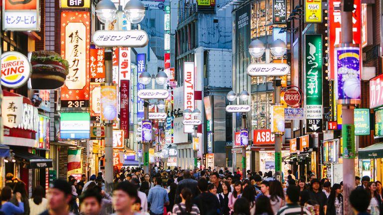 Yakuza成員在日本首都東京開展非法活動