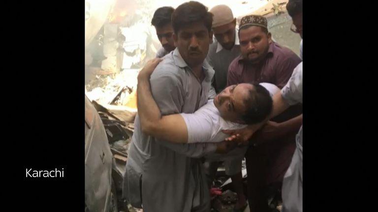 Pakistan Plane Crash At Least Two Survivors After