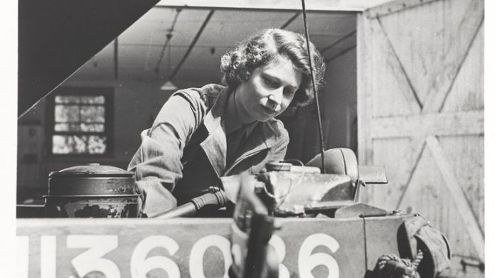 Princess Elizabeth was & # 39; insistent & # 39; upon joining. Photo: National Army Museum