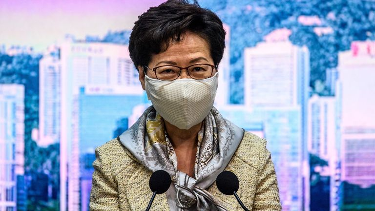 Hong Kong's leader Carrie Lam refused to comment on the new law