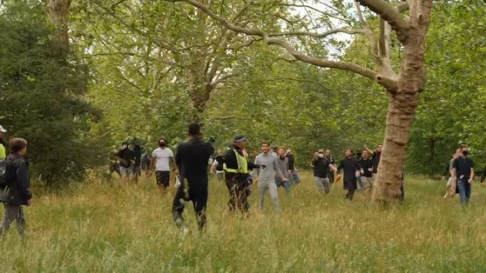 A small disorder broke out in Hyde Park with counter-protesters.