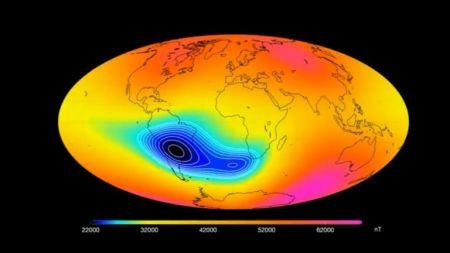 A anomalia do Atlântico Sul está a crescer, de acordo com a ESA