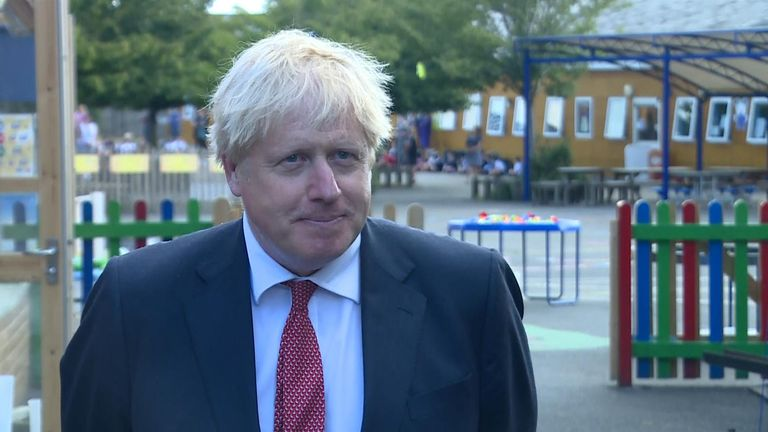 Prime Minister Boris Johnson said he had 'concerns' over human rights abuses but also did not want to be a 'knee-jerk Sinophobe'