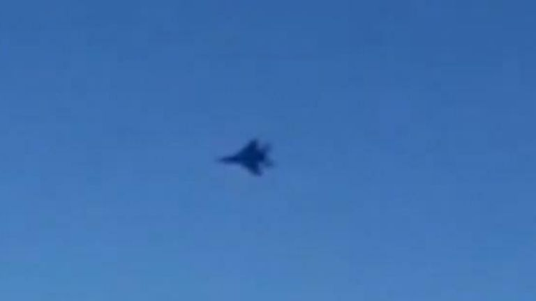 US fighter jet approaches Iranian passenger plane