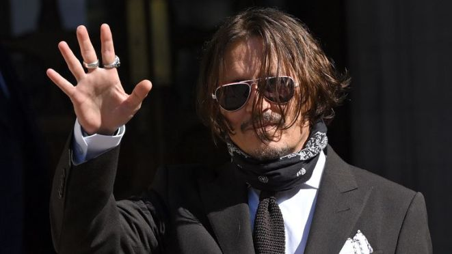 Johnny Depp attends day 4 of his libel case against The Sun Newspaper at the Royal Courts of Justice