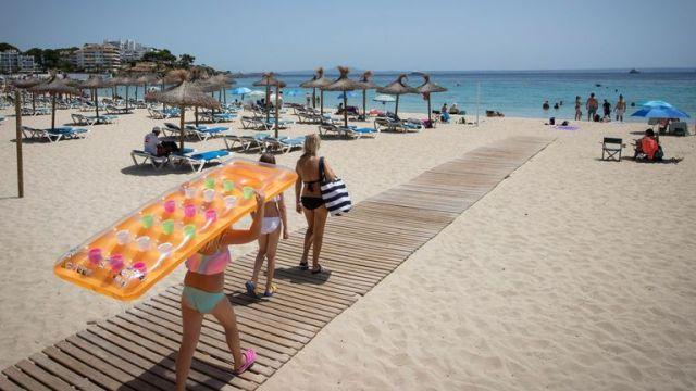 Es Carregador Beach in Calvia, on the Spanish island of Mallorca, earlier this month
