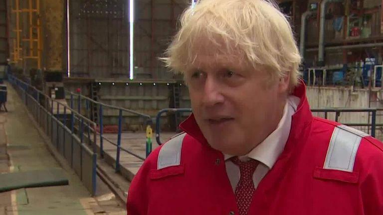 Boris Johnson talks about children going back to school