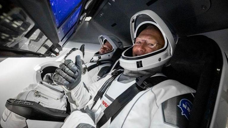 (L-R) Bob Behnken and Doug Hurley