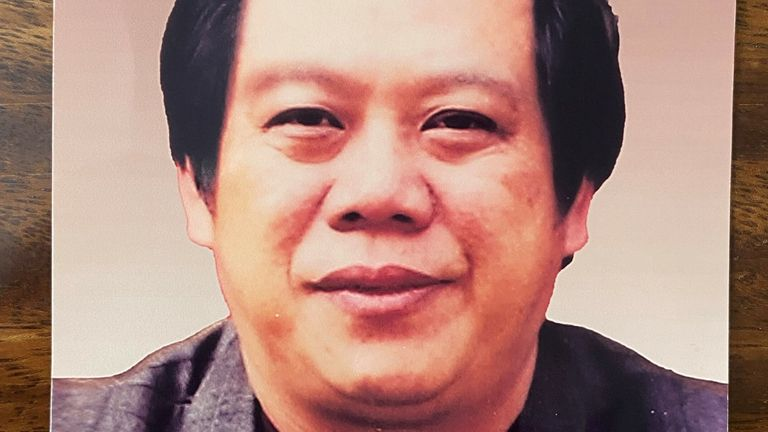 Zhao Lei's father (pictured) died of the virus in Wuhan in January