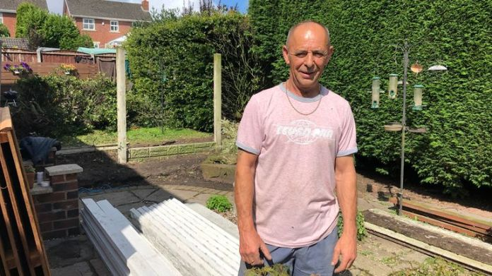 Steve Martland lives in Lancashire which means he is always free to have guests in his garden