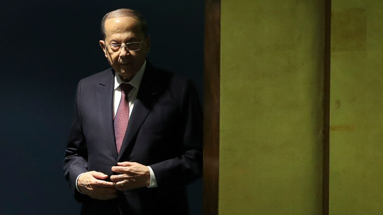 Michel Aoun has blamed previous administrations for the explosion