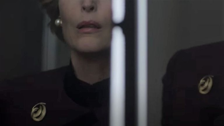 Gillian Anderson as Margaret Thatcher in trailer for season four of The Crown. Pic: Netflix