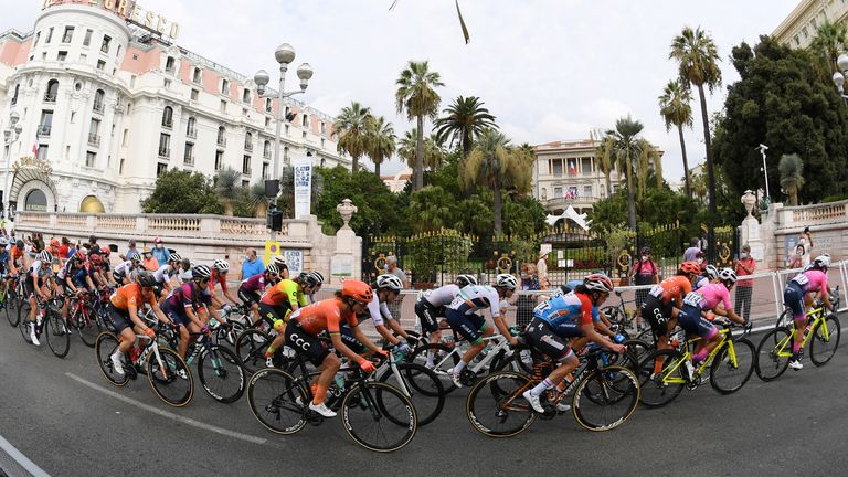 Cycling - La Course by Tour de France - Nice, France - August 29, 2020. General view during the race. Pool via REUTERS/Stuart Franklin