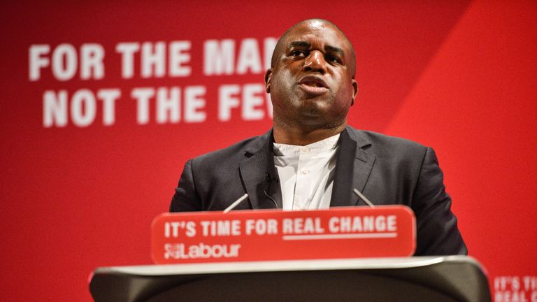 LONDON, ENGLAND - NOVEMBER 26: Labour MP David Lammy speaks at the launch of the Labour Race and Faith Manifesto at the Bernie Grant Arts Centre on November 26, 2019 in London, England. Mr Corbyn is campaigning ahead of the United Kingdom's December 12 general election. (Photo by Peter Summers/Getty Images)