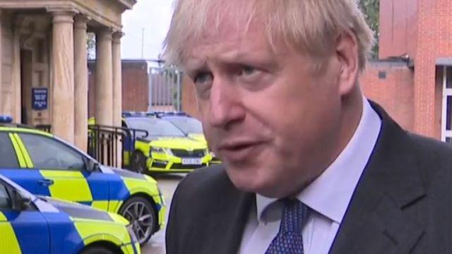 Boris Johnson battles thunder to get his message about coronavirus out