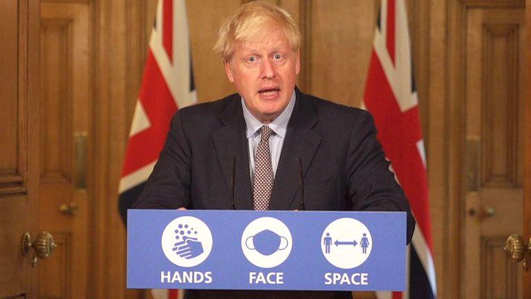 Boris Johnson Downing presser