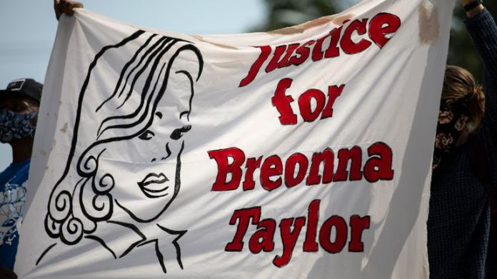 Community members gathered for a Stand 4 Breonna event to demand justice for Breonna Taylor on September 19, 2020 in Austin, Texas