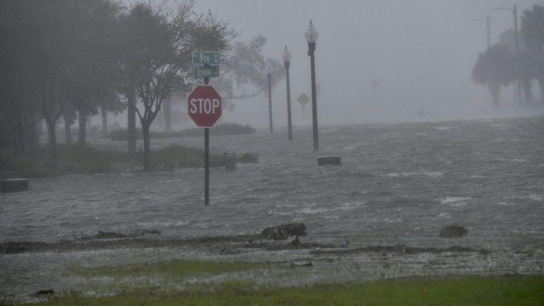 Flooding due to Hurricane Sally is seen in Pensacola Flooding due to Hurricane Sally is seen in Pensacola, Florida, U.S. September 16, 2020. Tony Giberson/News-Journal/USA Today Network via REUTERS.