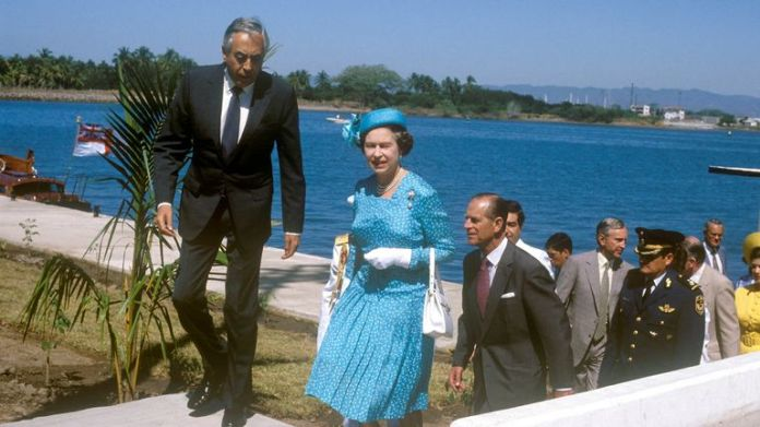The Queen visits Jamaica in 1983