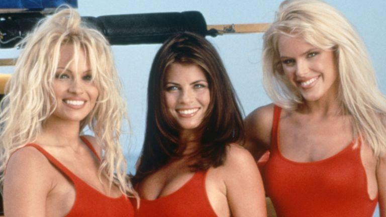 'Baywatch' TV Pamela Anderson, Yasmine Bleeth, Gena Lee Nolin. Pic: Fremantle Media