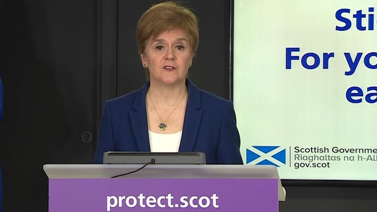 Nicola Sturgeon has announced a tier system will come into force in Scotland from 2 November