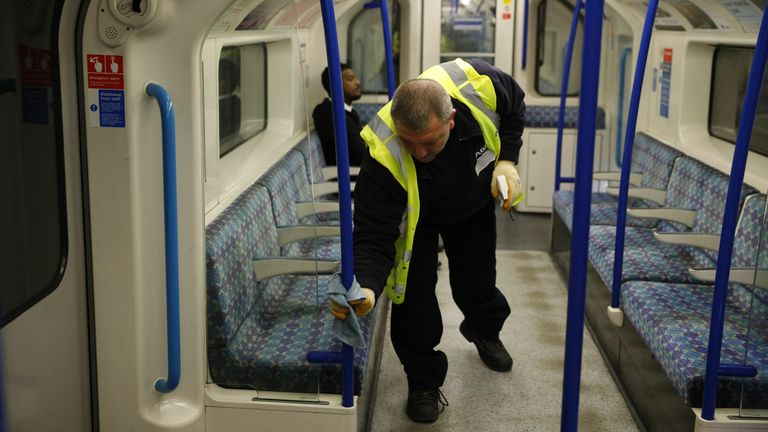 Frequent cleaning of surfaces on public transport was given a high priority from the start