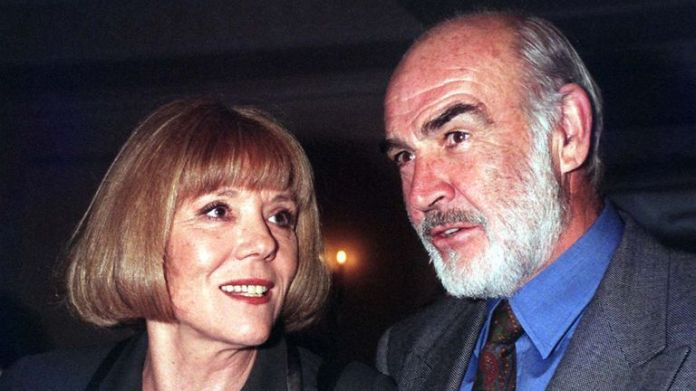 File photo dated 29/11/96 of Dame Diana Rigg and Sean Connery attending the 1996 Evening Standard Drama Awards at the Savoy Hotel in London.  Avengers actress Dame Diana Rigg has died aged 82, her agent has said.