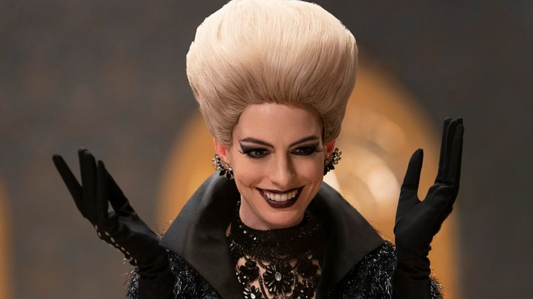 Anne Hathaway as Grand High Witch in Roald Dahl's The Witches. Pic: Warner Bros/Daniel Smith