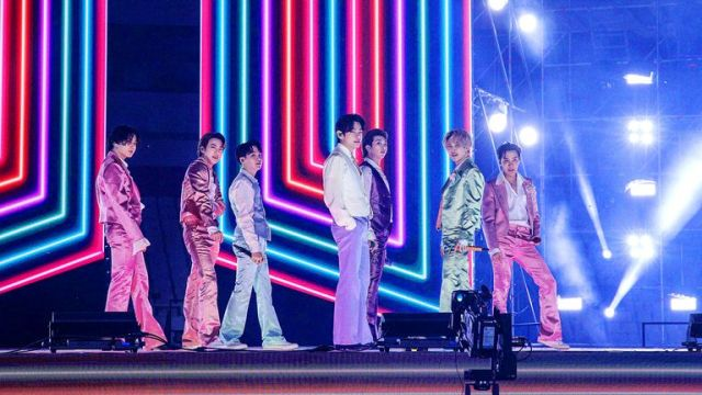 BTS performed at the American Music Awards from South Korea