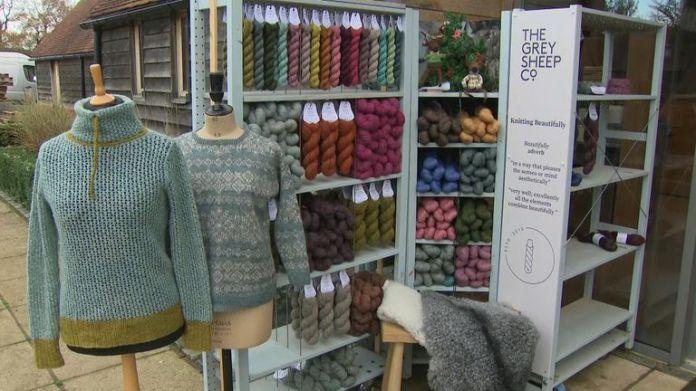 Gray Sheep Co in Hampshire turns wool into knitting yarn