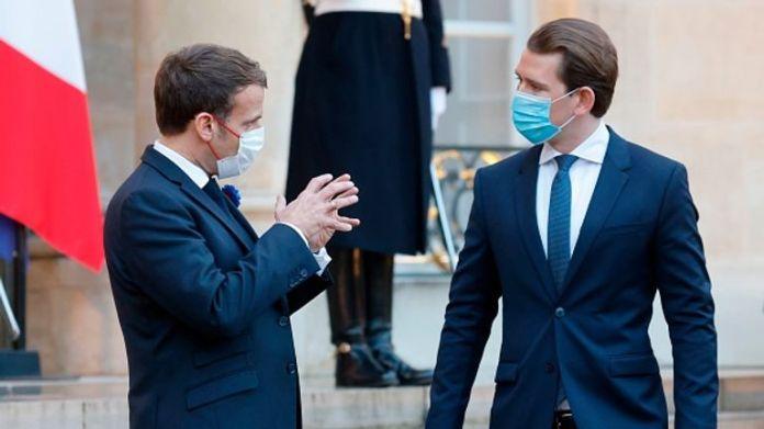 Austrian leader Sebastian Kurz (right) warned of threat of ex-jihadist 'time bomb'