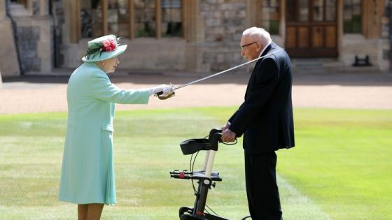 Earlier this year, the Queen knighted Captain Thomas Moore and Windsor Castle