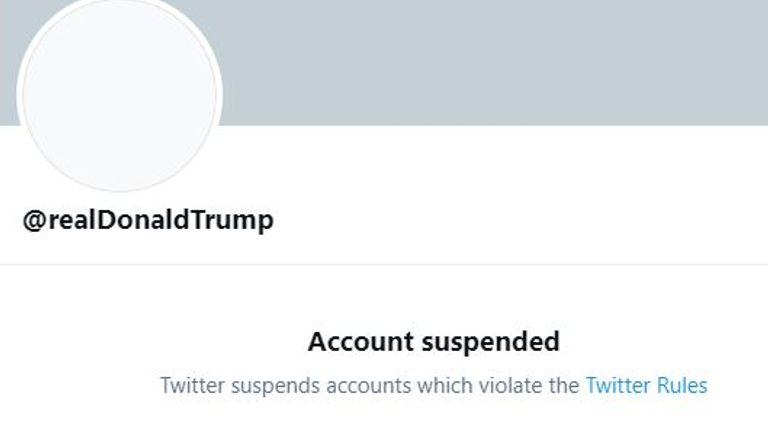 Trump's Twitter account is permanently banned