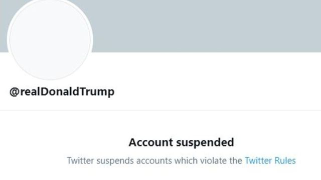 Trump's Twitter account permanently suspended