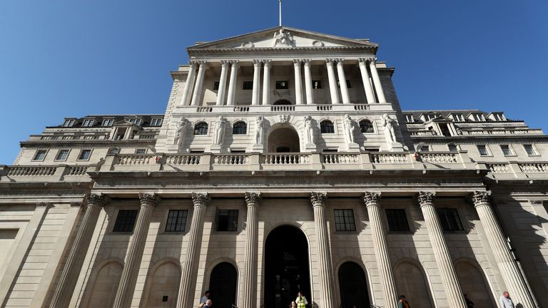 File photo dated 09/20/19 of the Bank of England in the City of London, which left interest rates unchanged at 0.1%. Date of issue: Thursday February 4, 2021.