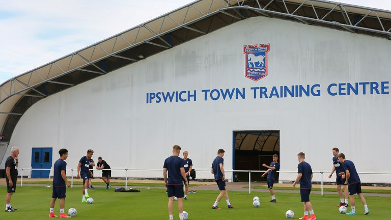 Ipswich Town training ground, where the fire took place