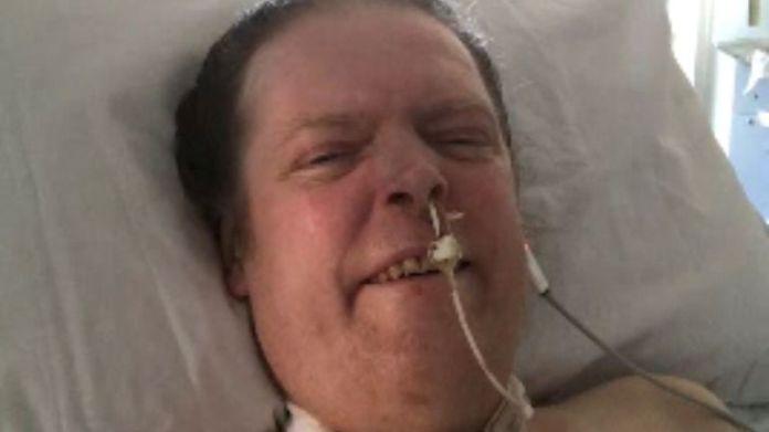 Jason Kelk has been using a ventilator since April last year after contracting COVID-19. Pic: Sue Kelk