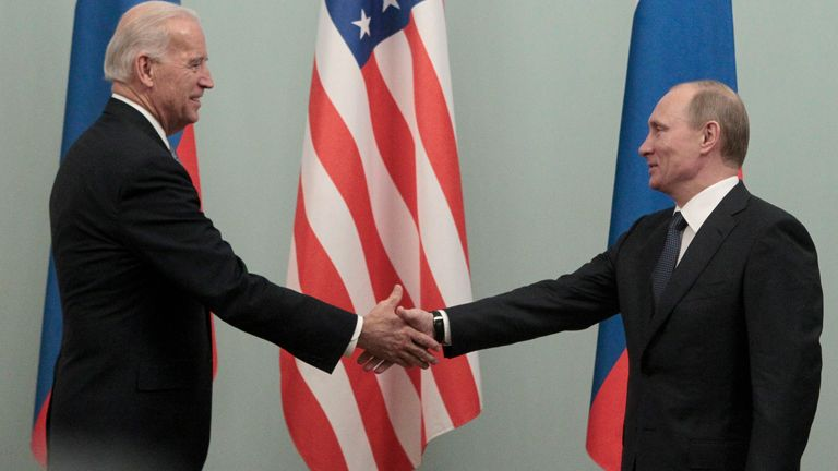 President Joe Biden has told Vladimir Putin the days of the US 'rolling over' for Russia have ended, File pic