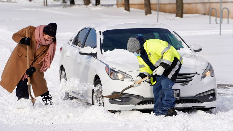 President Joe Biden declared a federal emergency in Texas, where temperatures ranged from -6 to -22C.