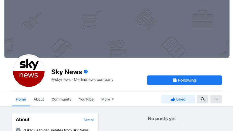 The block also affected Sky News UK